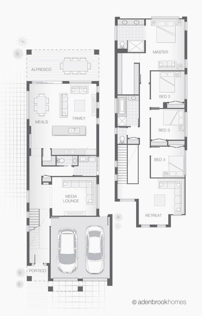 21 Inspirational Narrow Lot House Plans In 2020 Narrow House Designs Narrow Lot House Plans House Plans