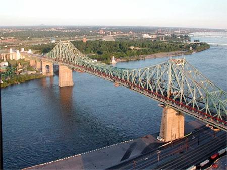 Jacques Cartier Bridge over St. Lawrence River, Montreal Que