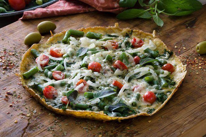 Pizza de omelete com espinafre | MdeMulher