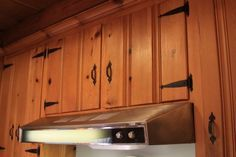restored-knotty-pine-cabinets Inspiration for strapping hardwear Simular to relclaimed from camp