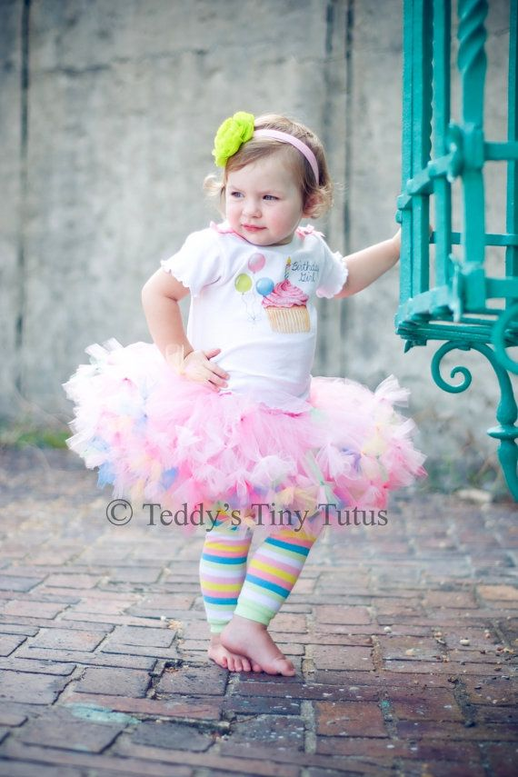 Birthday Tutu Set Toddler Girl Outfits Pettiskirt Outfit Cupcake Dress 2t 3t 4t