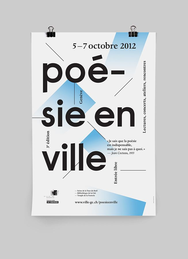 Poster and Program for a poetry festival by Studio Rubic.