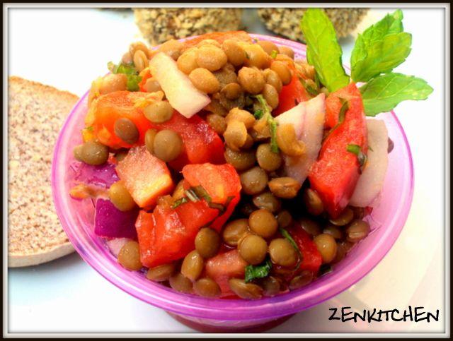 Insalata di lenticchie | lentil salad