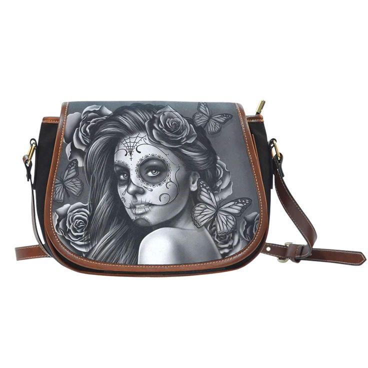 Calavera Girl Black V1 Saddle bag