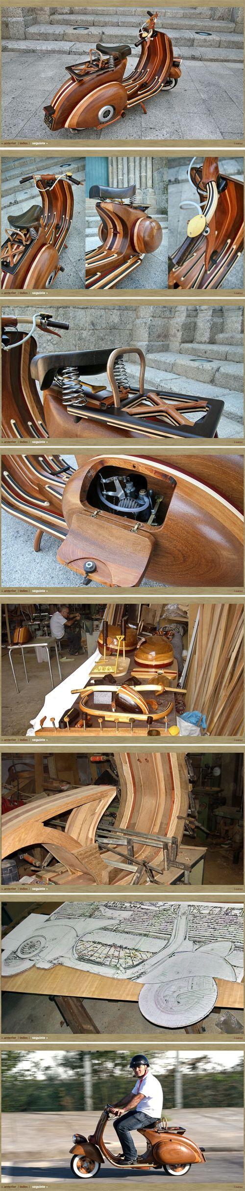 Vespa Daniella was Handmade by a skilled craftsman in Portugal