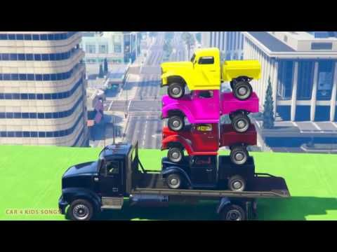 cars truck color cartoon for children spiderman movies for kids more info on