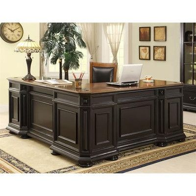 "Riverside Furniture Allegro L-Shaped Executive Desk and Return 30.5""h x 46""w x 23""d"