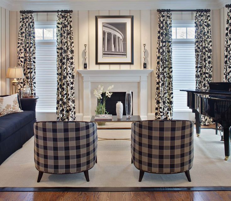 decorating room using 108 inch curtains ideas: Fascinating 108 Inch Curtains On Windows Treatment And Transom Also Mantle For Fireplace As Living Room Decor Plus Piano On Sisal Carpet Ideas With Wood Flooring