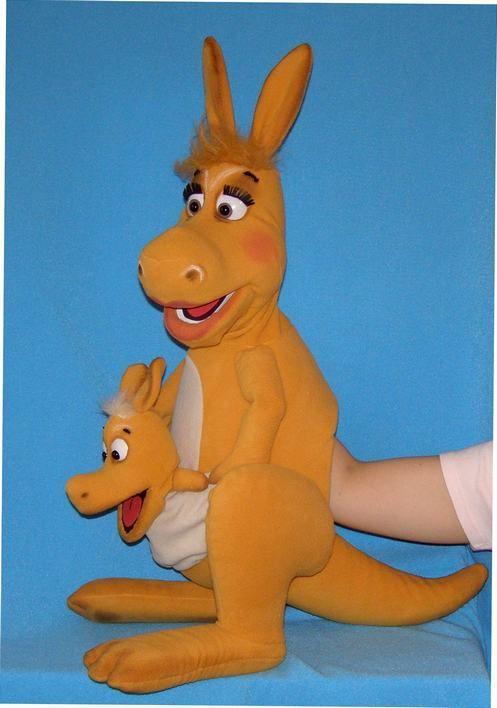 Kangaroo puppet, Puppet for sale.