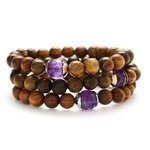 Sandalwood and Amethyst Bracelet  Designed by Mary Margrill