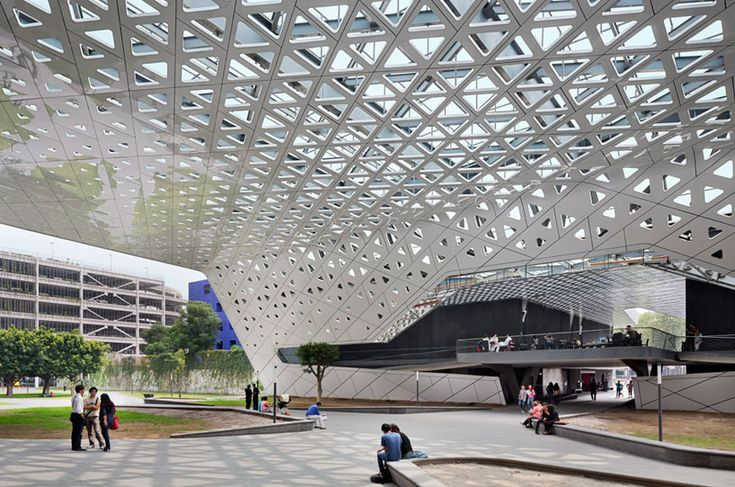 perforated roof connects cineteca nacional by rojkind arquitectos