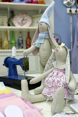 Алешкина Юлия. Игрушки ручной работы: Тильда-Зайцы. Мастер-Класс