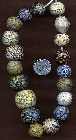 collection of ancient Indonesian Pelangi/Jatim Beads collected over 25 years, before the tourist markets were flooded by copies