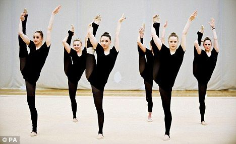 Let's go! Team GB's rhythmic gymnasts train after learning their fate
