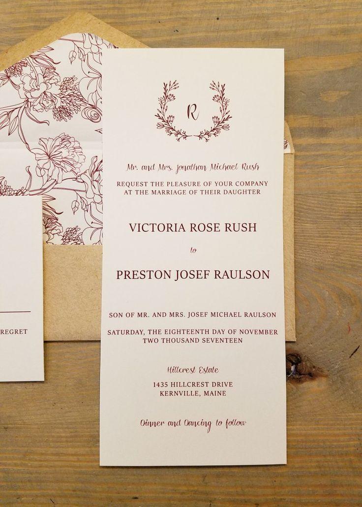 wedding invitation wording for hindu marriage%0A Velvet Wedding Invitations  Raspberry Creative
