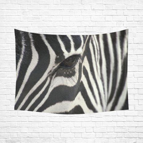 "Zebra Cotton Linen Wall Tapestry 80""x 60"""