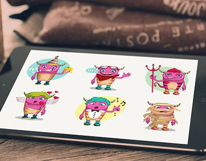 """Check out new work on my @Behance portfolio: """"Stickers"""" http://be.net/gallery/34497073/Stickers"""