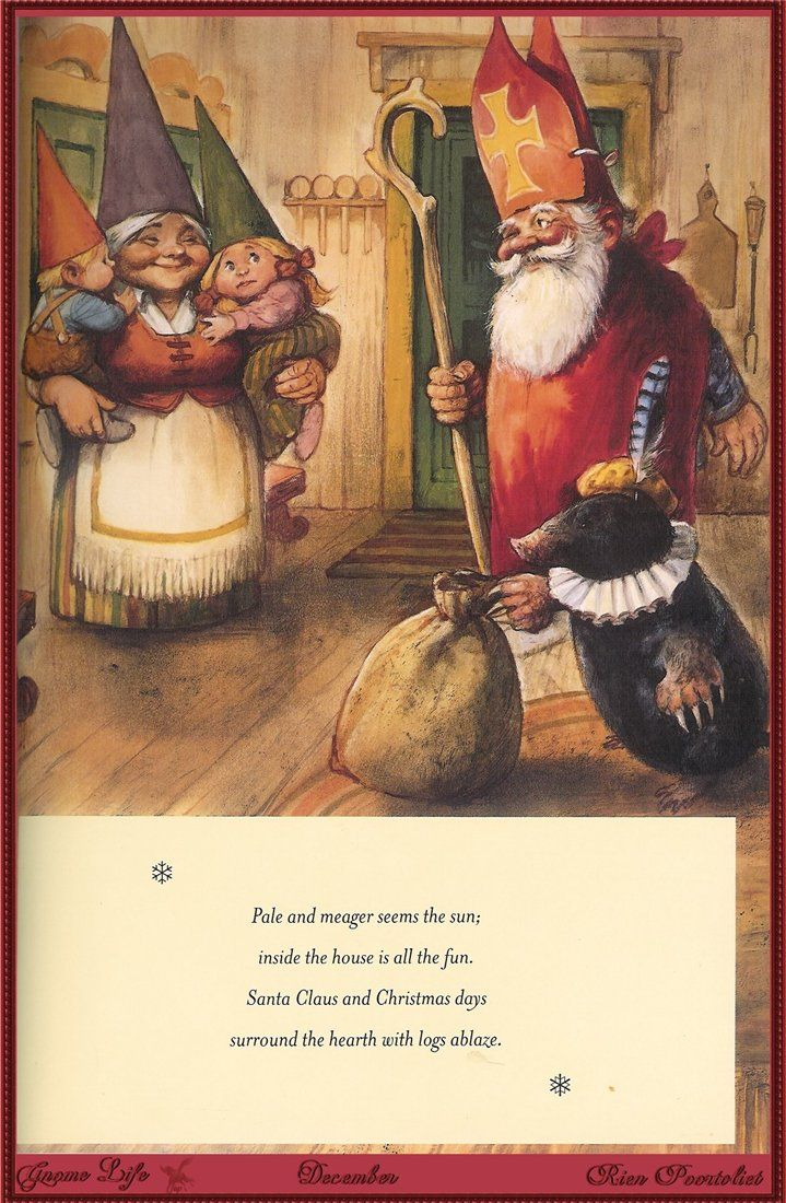 Rien Poortvliet. - From the book Gnome Life - December