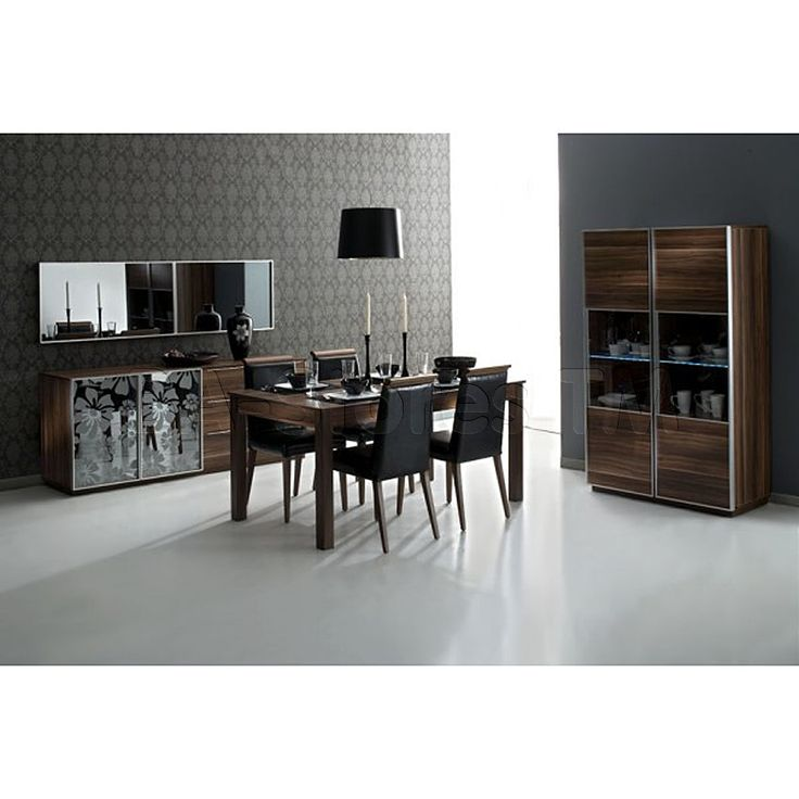 Dining Table And Buffet Set: Fauna 6 PC Dining Set (Extendable Dining Table, Four