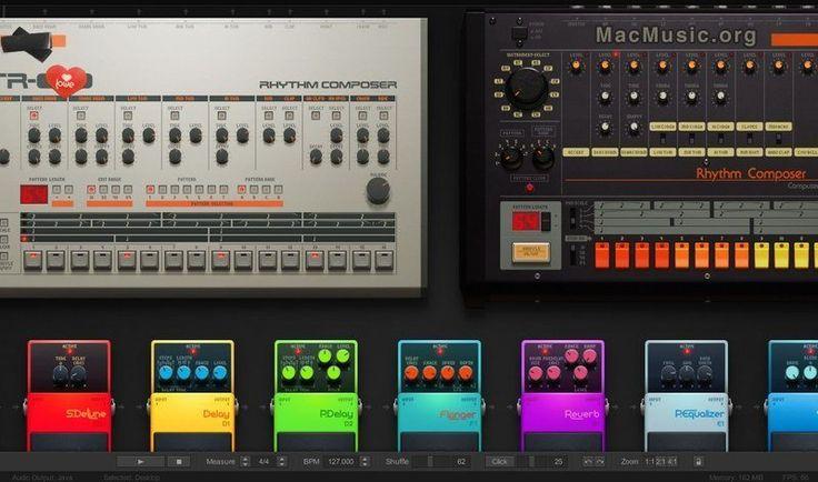 """Audiotool est une """"petite"""" application musicale en ligne créée par Hobnox qui vous permet de composer de la musique tendance électro grâce à 2 TB-303 pour les lignes de basses, une TR-808 et une TR-909 pour la batterie, et enfin 2 lignes d'effets de 9 pédales chacune avec notamment des delay, crusher, flanger, reverb, etc... #audio"""