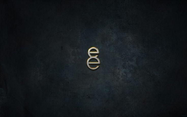 8E Logo Grunge Texture Dark Background Desktop Wallpaper