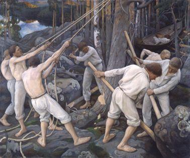 Pekka Halonen, Pioneers in Karelia (1900).