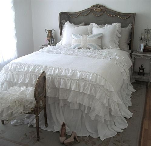 Lily Ruffle Duvet Cover Shams and Bed Skirt $1,100.00  www.etsy.com  http://www.etsy.com/listing/151302521/lily-ruffle-duvet-cover-shams-and-bed?ref=sr_gallery_11&ga_search_query=shabby+chic+duvet&ga_order=most_relevant&ga_view_type=gallery&ga_ship_to=US&ga_ref=auto1&ga_search_type=all