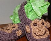 Monkey Slippers Unisex kidsFREE SHIPPING by CheekeemonkeeStore