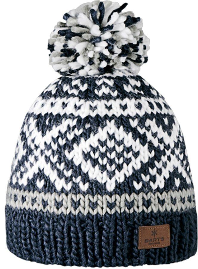 Barts Log Cabin Ski/Snowboard Beanie Bobble Hat, Navy
