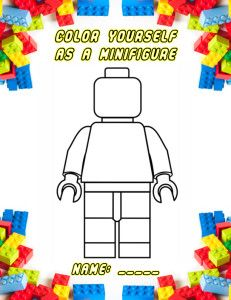 Lego Minifigure Coloring Page