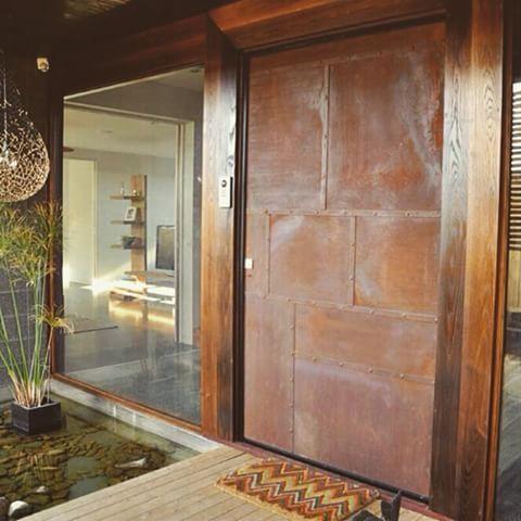 Resultado de imagem para portas aço corten | Portas ...