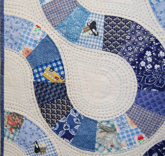 Cute big stitch quilting! Edinburgh Quilt show February 2008 by josiequilts, via Flickr