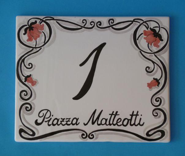 Francesca Rocchi: Prodotto:: NUMERI CIVICI DECORO LIBERTY