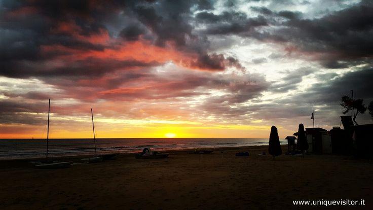 #alba sulla bellissima spiaggia di #Pineto #Abruzzo