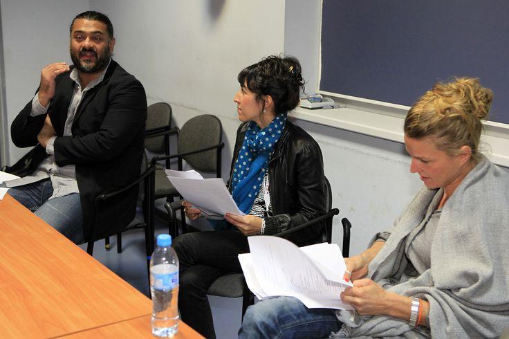 Filmteractive Market jury sitting. From the left: Adipat Virdi (Transmediasphere, UK), Aurelie Taguet (France Televisions, France); Lucia Haslauer (ZDF, UK)