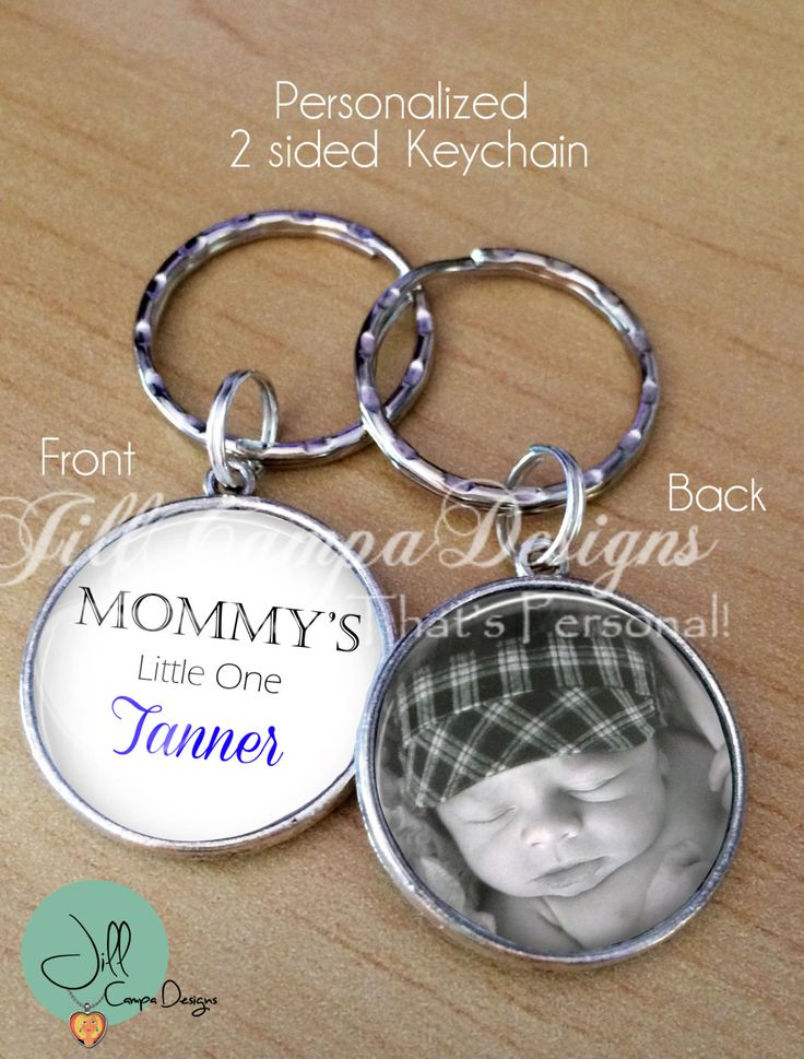 Personalized keychain - Mommy's Little One - ANY NAME - your photo keychain - 2 sided keychain - Boy or Girl - gift for Mom, New Mom by NowThatsPersonal on Etsy