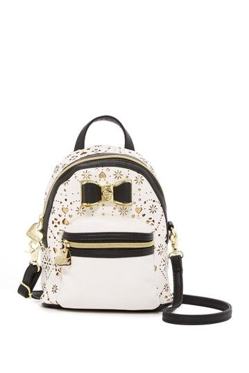 Laser Cut Backpack Crossbody by Betsey Johnson on @nordstrom_rack