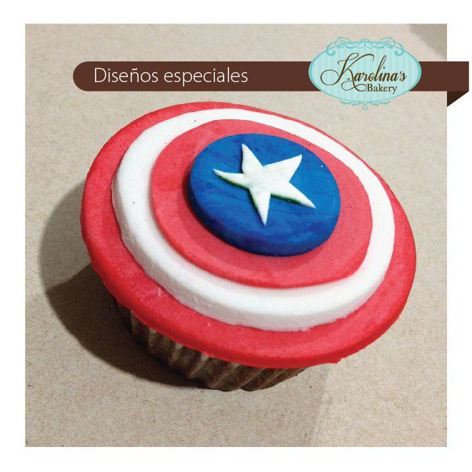 #Cupcake Capitán América #captainamerica