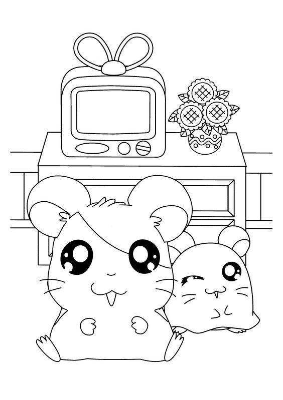 42 best hamtaro art refs images on Pinterest | Hamtaro, Coloring ...