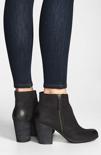 Pretty booties that go with just about everything - BP. Leather Ankle Bootie