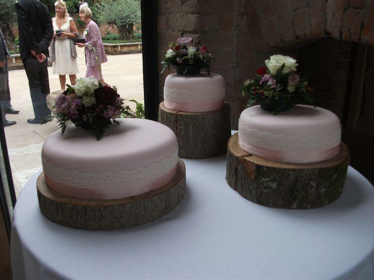 Friend's wedding cake Gluten-free apple, sultana and amaretto (small) Carrot cake (medium) Fruit cake (large)