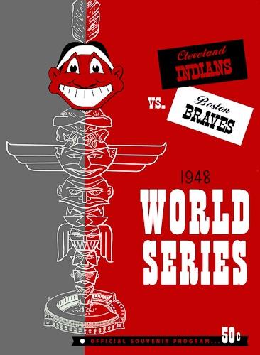 1948 World Series Program. Cleveland Indians vs Boston Braves #WorldSeries