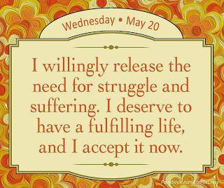 Bewust Zijn: De behoefte om te worstelen en te lijden loslaten...