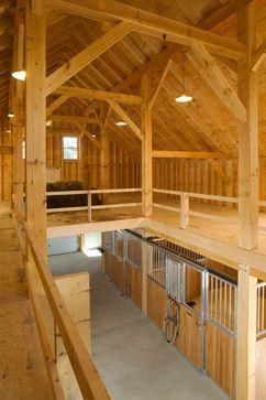 Maine Timber Frame Horse Barn