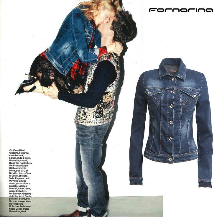 Fornarina jeans jacket on D della Repubblica. #myFornarina #Press #jeansjacket