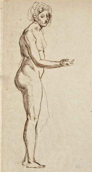 Eugène Delacroix, Jeune femme nue debout