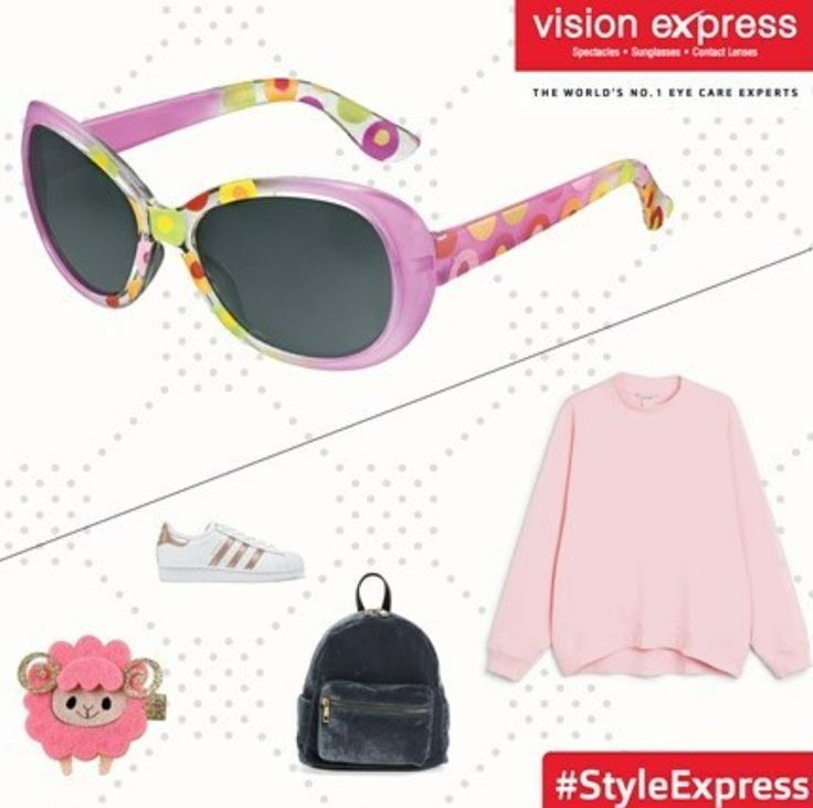 Have you seen these cute pink sunglasses ? Get them for your little girl from your nearest Vision Express store