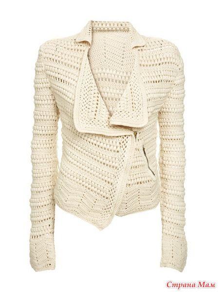 钩针外套 - 蕾妮 - 蕾雨轩 [no idea what it means but maybe I'll meet someone who knows and then I can buy this jacket :) ]