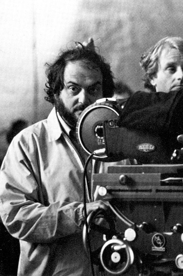 "Stanley Kubrick on the set of ""Barry Lyndon"" (1975)"