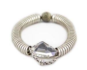 REMINISCENCE PARIS Python & Silver Crystal Bracelet  Purchase: $130.00 CAD